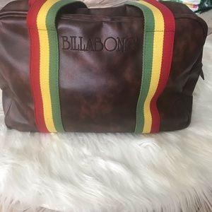 Billabong Bags - Billabong vegan leather duffle rainbow handles